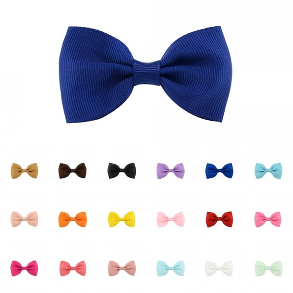 Solid Color Hairclips Girls Hair Ribbon Bows HairClip With Clips Cute Fashion Kids Hairpins 20 Colors Support FBA Drop Shipping D492Q