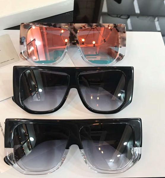 Mulheres Oversized Retângulo Óculos De Sol Sonnenbrille preto / cinza Sombra Marca Designer de Moda Óculos De Sol Óculos Eyewear New caixa de sagacidade