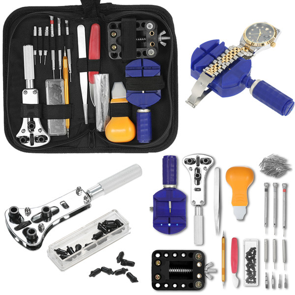 146 PCS Reloj Kit de herramientas de reparación Reloj relojero Abrebotellas Removedor Spring Bar Relojes Kits de herramientas de reparación para rolex_watch