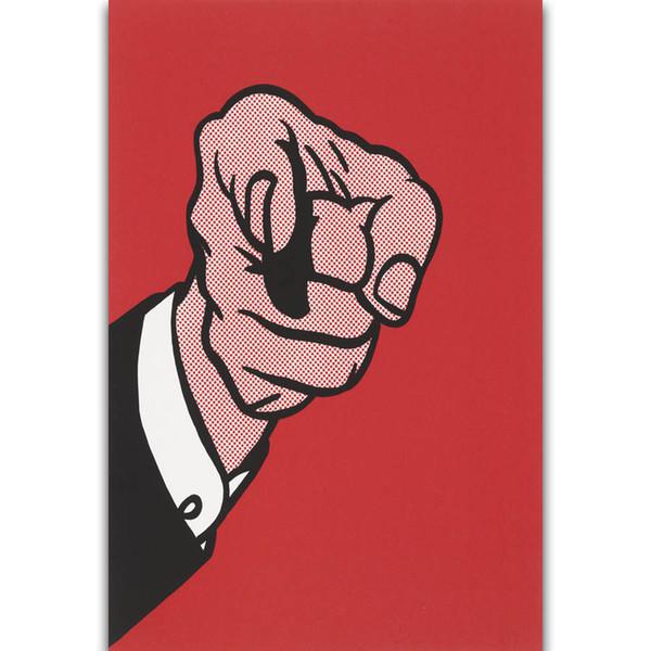 S2085 Dedo Apontando Roy Lichtenstein Pop Quer Você Arte Da Parede Pintura de Impressão Na Lona De Seda Cartaz Casa Decoração