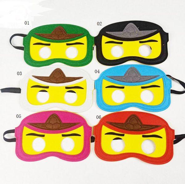 Novo Design Felt máscaras de festa de aniversário favor máscara olho crianças máscara de Halloween melhores presentes para a festa vestir-se 1000 pcs Pode ser personalizado SN1589