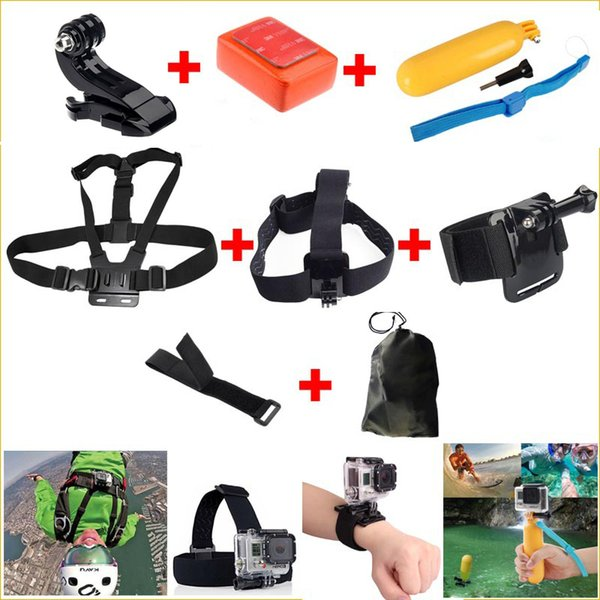 mounts to go pro acessorios Chest Strap screw float for Gopro Hero 4 3+2 3 5 xiaomi action camera sj4000 sjcam m10 accessories
