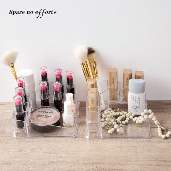 Acrylic Makeup Organizer for Mascara Makeup Brush Perfume Clear Office Cosmetic Storage Box Organizador Maquillaje Free Shipping