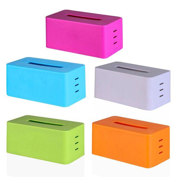 1pcs New Arrival Adjustable Tissue Box Holder Fashion Plastic Car Napkin Facial Paper Case Storage Organizer For Home Kitchen