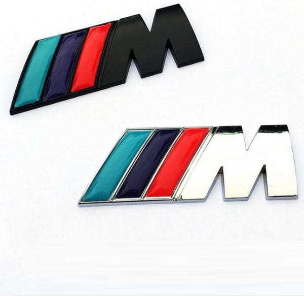 New Motorsport Metal Logo Car Sticker Rear Trunk Emblem Grill Badge for B M W E46 E30 E34 E36 E39 E53 E60 E90 F10 F30 M3 M5 M6