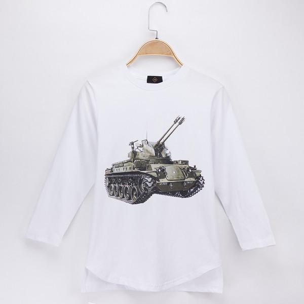 2018 Children Clothes Kids T-shirt Tank 3D Print 100% Cotton White Full Child Shirt Boy Long Sleeve T Shirts Baby Clothing Girl Tops Tee