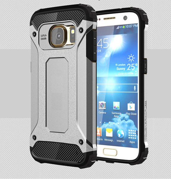 Fast shipping For Samsung Note 3 case combo Shockproof for iphone x case Hard Plastic Soft TPU Rubber for Goophone Armor phone case