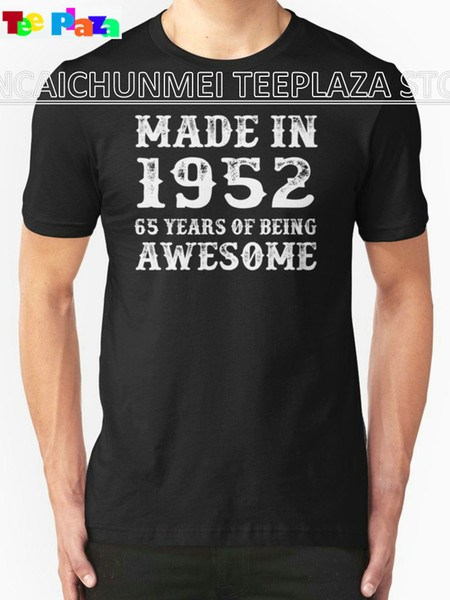 Teeplaza Cool T Shirts Designs O-Neck Short Made In 1952 65 Years Of Being Awesome New Style Tee Shirt For Men