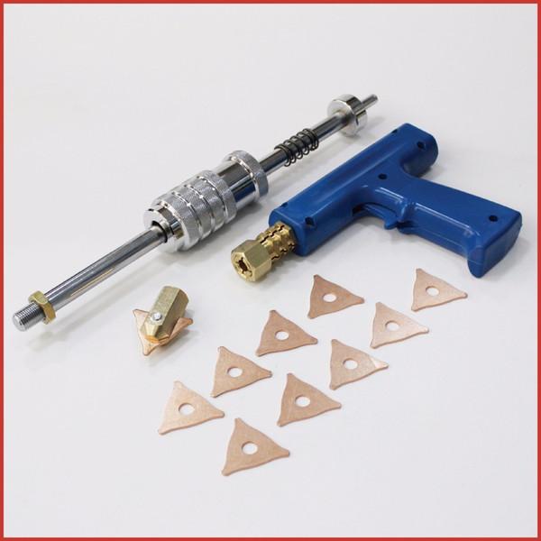 stud gun slide hammer uni spotter deluxe starter plus kit tri hook chuck stinger hunter car auto body dent removal welding tools