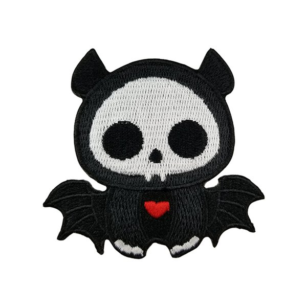 Lovely Skull Spider Patch Biker Rocker Iron On Patches Motorcycle Club Vest Jacket Badges Applique Free Shipping