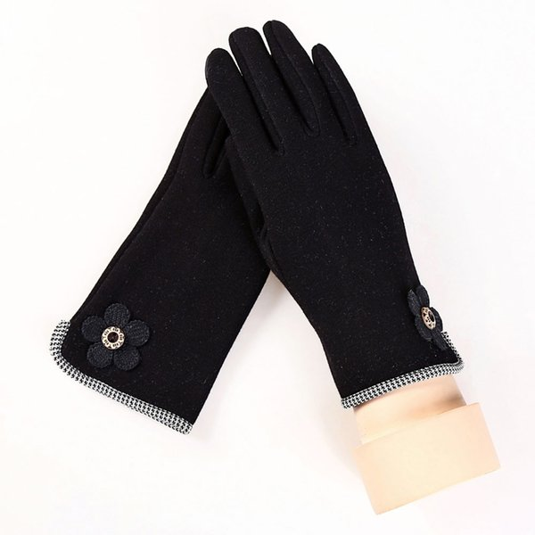 2017 NEW Cotton Gloves for Women Winter Warm screen gloves for Mobile Phone Mittens guantes Drop Shipping#LRE0