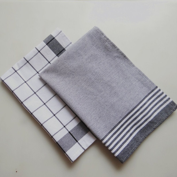 Factory wholesale home kitchen baked gourmet background cloth, Nordic style cotton yarn-dyed striped napkin, kitchen towel small tablecloth