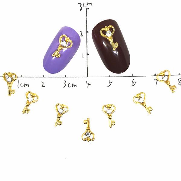 Magic Rod Gold Nail Art Decoration Metal 3d Nail Charms Decor Japan Crystal Supplies Love Kawaii Key Studs Accesorios Para Unas