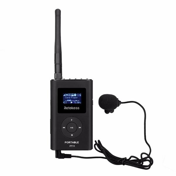 RETEKESS 0.3W FM-Übermittler-Hand MP3-Rundfunk-Übermittler Portable für das Auto, das Reiseleiter-System im Freien kampiert