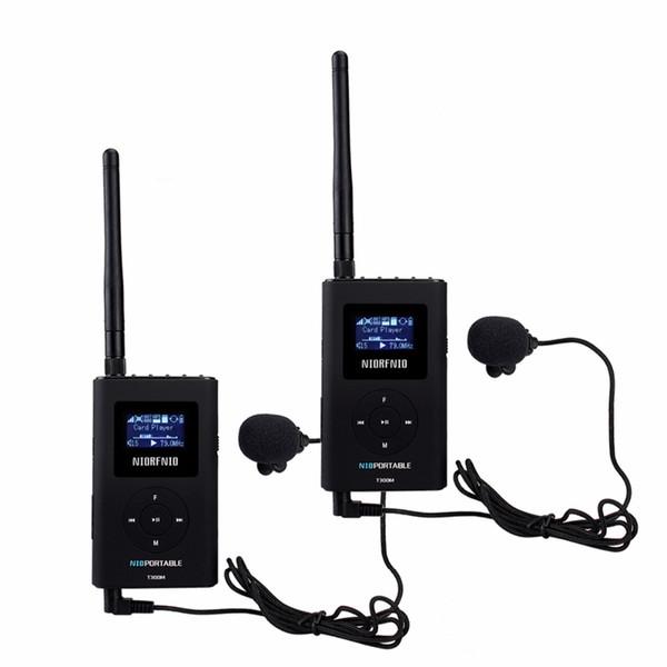 2 STÜCKE NIORFNIO Handheld Portable Radio 0,3 Watt FM Transmitter MP3 Rundfunk Sender Für Auto Treffen Reiseleiter Y4409A