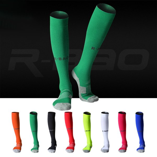 8 Colors Outdoor Sports Adult Football Socks Breathable Warmers Thicken Compression Cycling Soccer Socks Men Professional Stocking H105SF