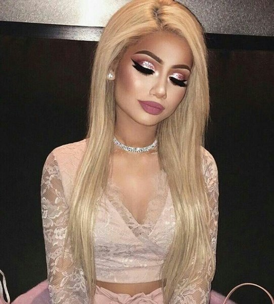Hot Sale Straight Lace Front Wigs With Baby Hair Non Processed Brazilian Human Hair Extensions Full Lace Wigs For Women G-EASY
