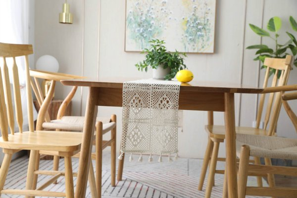 Newly Released Table Cloths for Home Decoration Delicate Lace Table Runner Cloths with Fringe Free Shipping