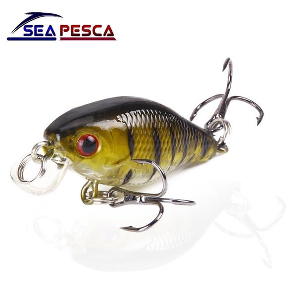 SEAPESCA Minnow Fishing Lure 4cm 4.2g Crank Hard Bait artificial Wobblers Bass Japan Fly Fishing Accessories JK240 Y1890402