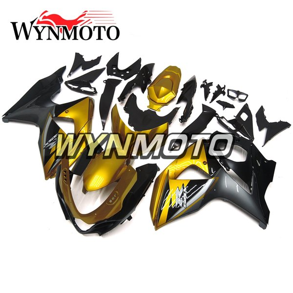 Motorcycle Fairings For Suzuki GSXR1000 K9 Year 2009 - 2016 ABS Injection Cowlings High Quality ABS Injection Bodywork Gold Matte Black