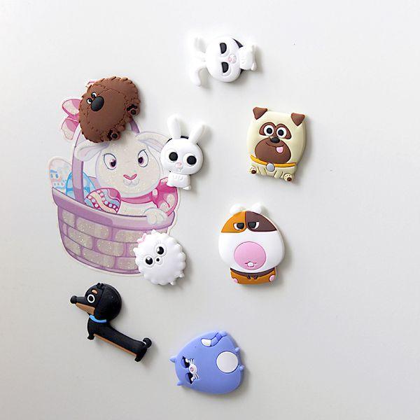 10 Piece Cartoon Creative Kids Kawaii Animals Pets Cat Rabbit Dog Home Decorative Souvenir Small Fridge Magnets Sticker TZ083