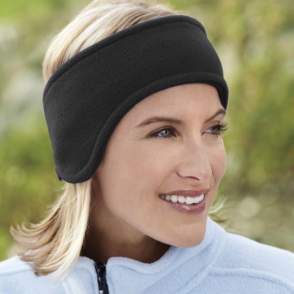 Ear Warm Headbands For Women Men Winter Double Layer Fleece Hair Bands Unisex Elastic Wide Headbands Earmuffs