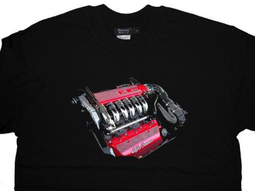 Alfa Romeo V6 T-shirt Do Motor T camisa GTV GTA 166 156 GTA-TODAS AS OPÇÕES Mens 2018 Moda Marca T-shirt O-pescoço 100% algodão T-shirt