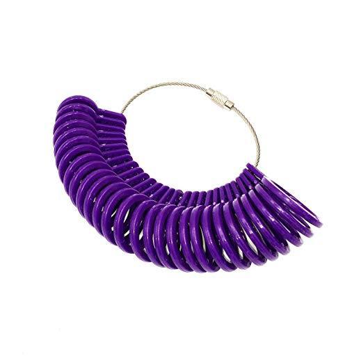 Jewelry Ring Sizer Finger Sizing Gauge Measure Tool Jewelry Jewelers Size Loop(purple)