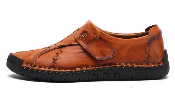 Compre 2018 Nuevos Hombres Hechos A Zapatos Mano Guisantes Casuales Zapatos A 9bf094