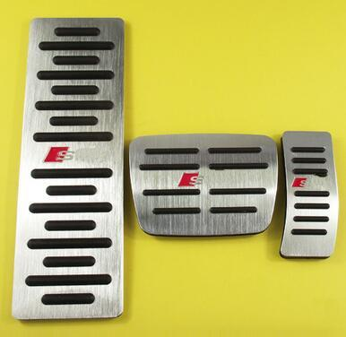 High quality aluminium alloy 3pcs car rest pedal+accelerator pedal+brake pedal for A1,A3,A4,A6,A7,A8,Q3,Q5,TT