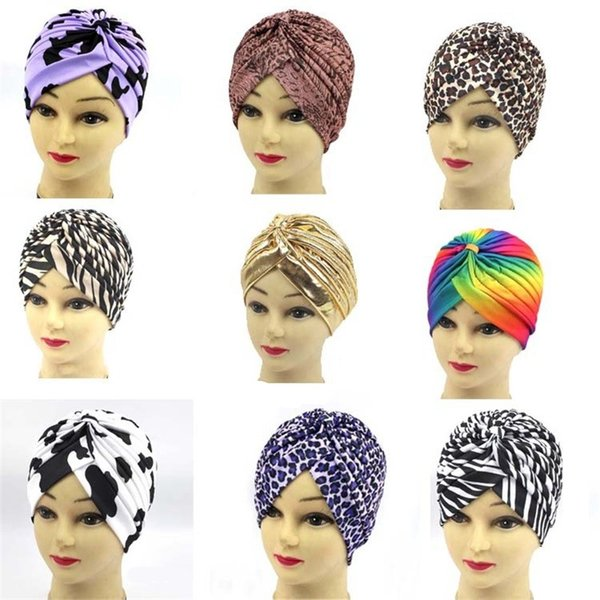 Bodybuilding India Yoga Hat Man And Women Luxury Turban Exquisite Muslim Headscarf Animal Pattern Designer 3 7yh Ww