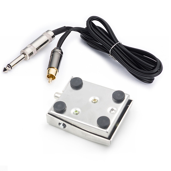 Square Tattoo Machine Foot Pedal Switch with RCA Power Adapter Foot Pedal Controller for Tattooing and Tattoo Artist