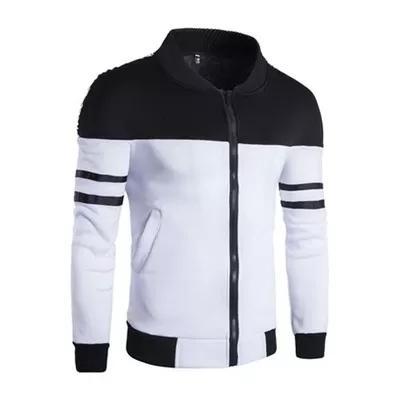 2018 Spring Autumn Casual Solid Fashion Slim Bomber Jacket Men Overcoat Baseball Jackets Men's 2xl Sportswear hoodies