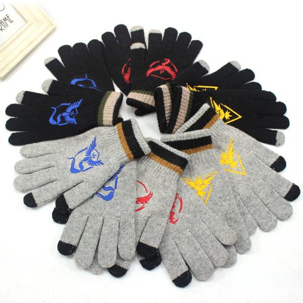 Tree Team Mystic Valor Instinct Gloves Winter Warm Touch Screen Gloves Fans Fashion Gift for Men Women Dropp Shipping