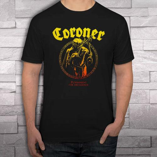 Coroner Punishment Logo Men's Black T Shirt Shirts Tee S - 2xl Cotton Fashion Men T Shirt T Shirt O - Neck Men Funny