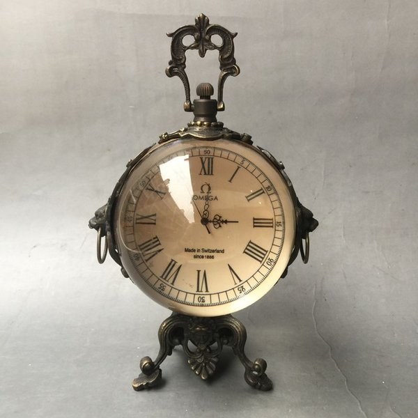 Antique bronze goods beast ear sphere Western beauty watches mechanical watches home decoration