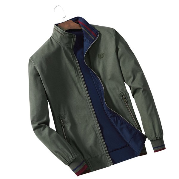 C1014 2018 spring and autumn new men stand collar wearing fashion casual men's thin jacket coat cheap wholesale free shipping