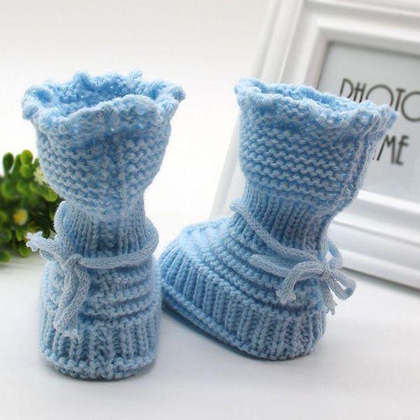 Wholesale- Handmade Newborn Baby Infant Boys Girls Crochet Knit Booties Casual Crib Shoe