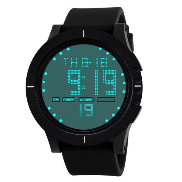 Wrist Watch Men 2018 Creative Outdoor Stainless Steel Digital LED Date Sport Quartz Wrist Watch Reloj Hombre Silicona Marcas