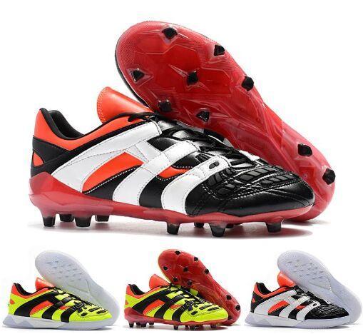 Original 2018 Predator Accelerator Electricity FG DB dream back 98 TR Se convierte en 1998 98 Hombres zapatos de fútbol botines de fútbol Tamaño 39-45