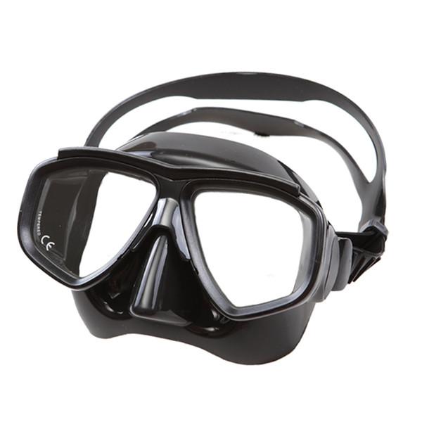 Professionelles Freediving und Spearfishing Set schwarz Silikon Tauchset Low Profile Tauchmaske flexibles Silikon Top Freediving Ausrüstung
