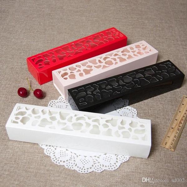 Hollowed Out Design Macarons Boxes Exquisite Rectangle Candy Contenitore di imballaggio per bomboniere al cioccolato Bomboniere Many Colors 0 72xy ZZ