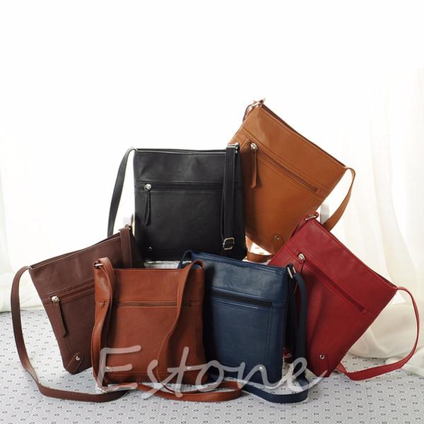 Lady Women PU Leather Handbag Shoulder Bag Tote Purse Messenger Hobo Bag Satchel