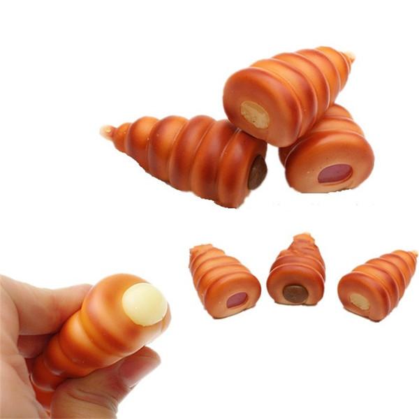 Japon Saucisse Bun Squishy Décompression Jouets Squishies Simulation Food Squishies Lent Rising Squeeze Jouet Vente Chaude 4mm C