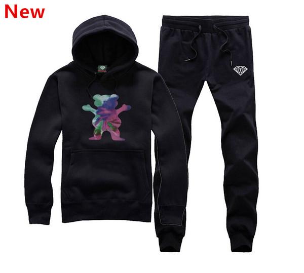 New Diamond Supply sweat suit Autumn sportswear sport men clothes track suits tracksuits male sweatshirts +Pants Plus Size 3XL H16