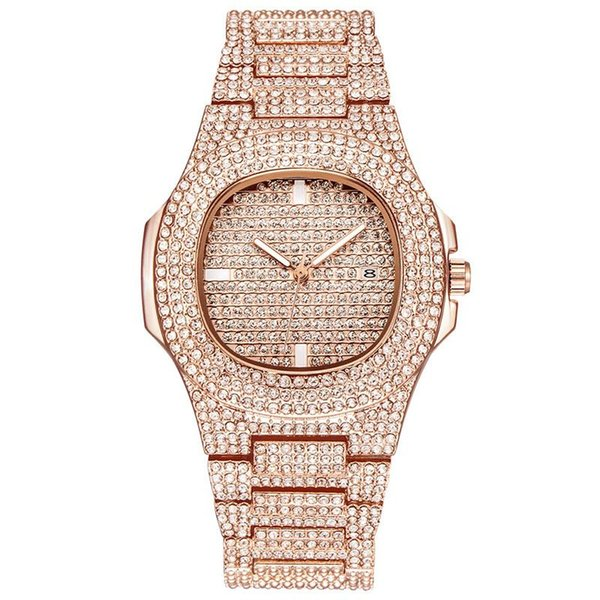 2018 New Luxury Women Watch Diamonds Quartz Lady Stainless Steel Brand  Watches Rhinestone Rose Gold Wristwatches Clock Gifts Relogio Feminin 6a4571d7f2b0