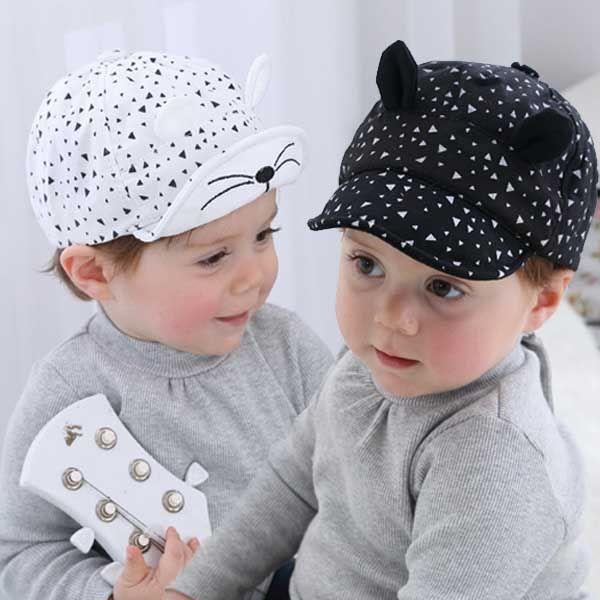Toddler Baby Boys Girl Soft Cotton Cat Ear Cap Baseball Cat Photography Prop Hat
