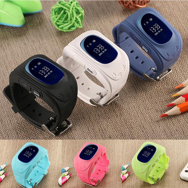 Çocuklar Akıllı İzle Çocuklar Çocuk Kol Saati GSM GPRS Bulucu Izci Anti-Kayıp sim kart Smartwatch Çocuk Guard