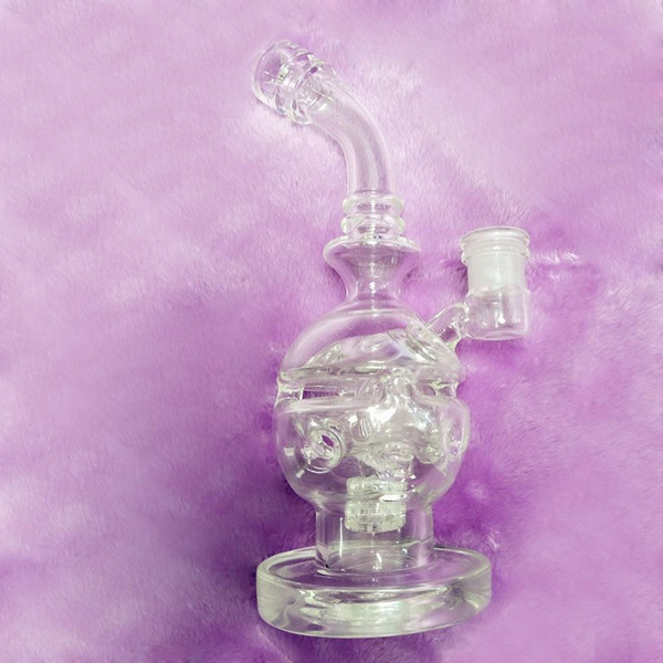 26cm Skull Dab Rig Glass Pipes Vintage Faberge Egg Glass Water Pipes For Smoking Mini Fab Egg Glass Bongs Two Function Recycler Bong