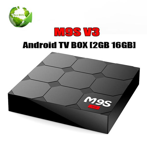 [Genuine] M9S V3 4 K Rockchip RK3229 Quad Core Android 6.0 CAIXA de TV 1 GB / 8 GB 2G / 16G Bluetooth 4 K H.265 Suporte OTA Set Top Box